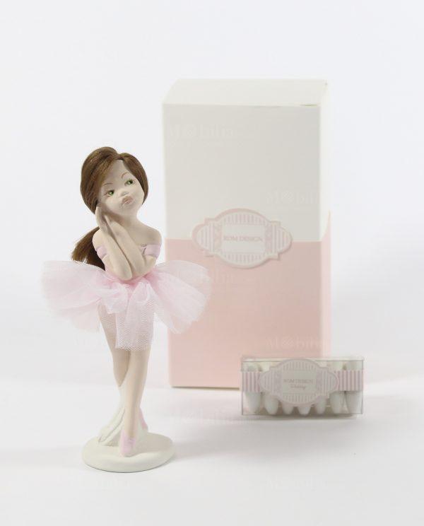 Ballerine Bomboniere Comunione e Cresima con Tutù Rosa Rdm Design