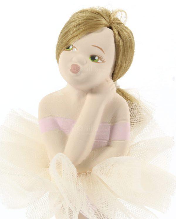 ballerina piccola da appoggio con tutù panna rdm design