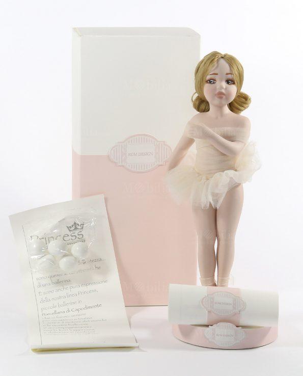 Idee Bomboniere comunione Ballerina Capodimonte Grande Tutù Panna