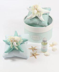 diffusore stella marina su cuscino con essenza rdm linea costazzurra