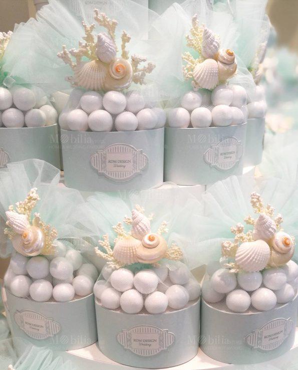 Sacchetti Confetti Tema Mare con Conchiglie Rdm Design