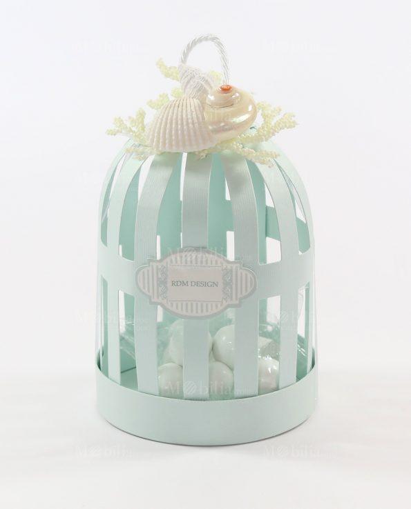 Scatole bomboniere lanterna gabbietta con confetti tema mare - B b porta di mare ...