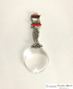 lente di ingrandimento con manico decorato argento tabor
