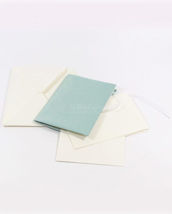 Invito con apertura a libro tessuto tiffany Rdm Design