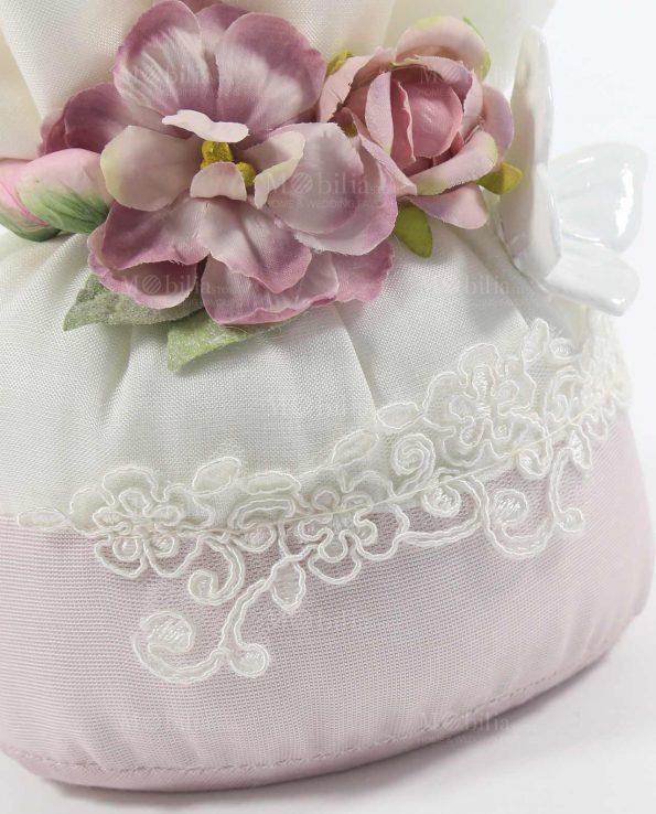 Sacchetti Bomboniere con Magnolia e Farfalla Bianca Rdm Design