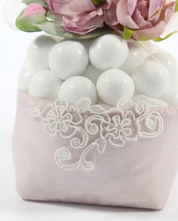 Sacchetti Confetti con Magnolia e Pizzo Rebrodè Rdm Design