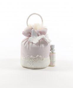 Sacchetti confetti con Pizzo rebrodè Farfalla Bianca e Fragranza