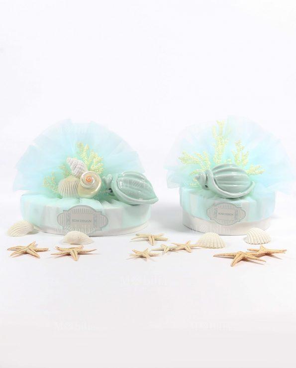 Sacchetti Bomboniere con Conchiglie e Confetti Rdm Design
