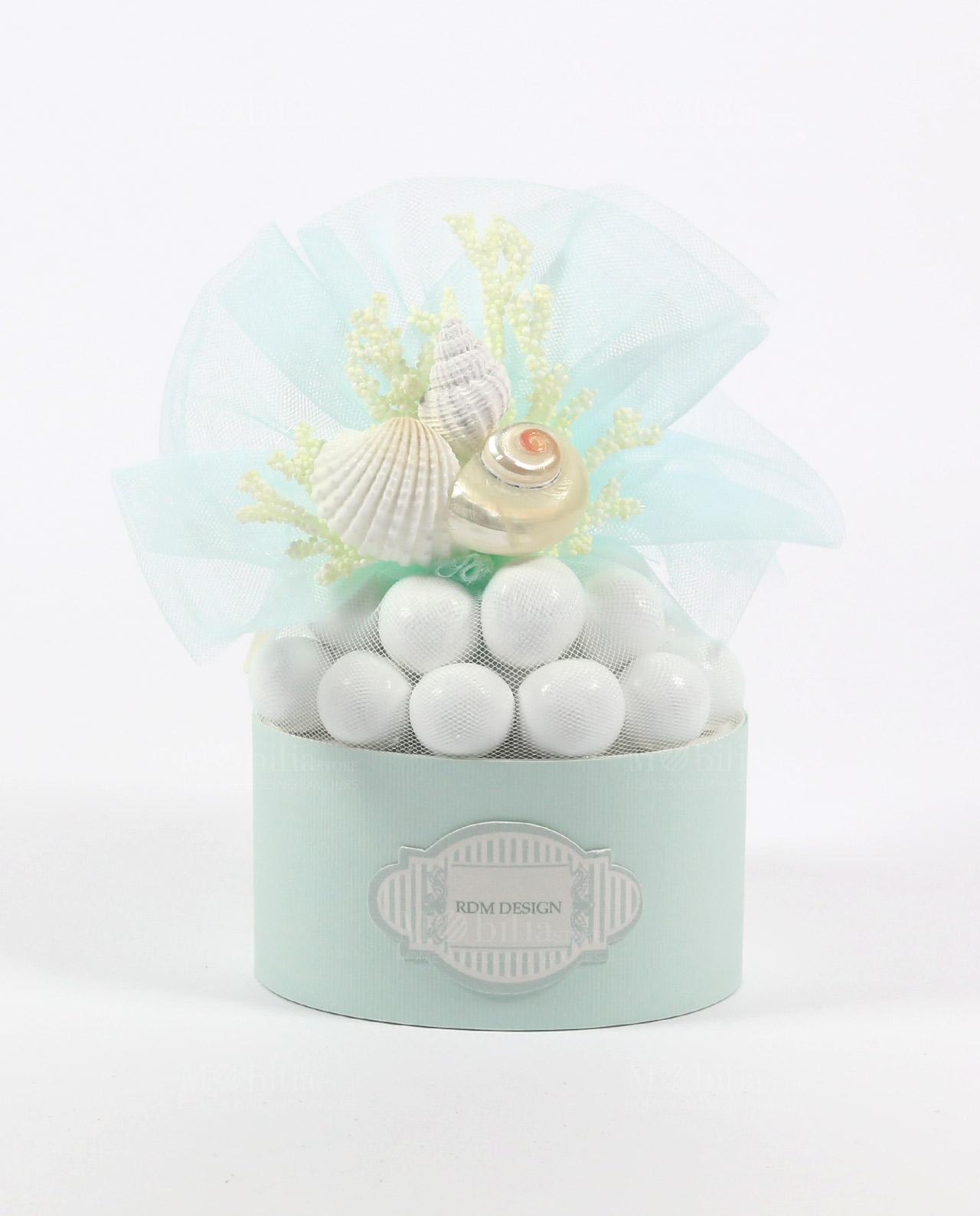 Idee Bomboniere Matrimonio Country Chic : Scatolina portaconfetti con conchiglie rdm design linea