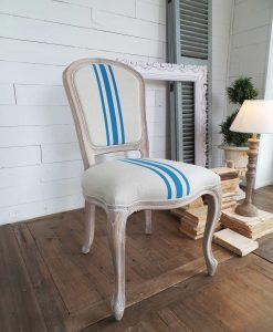 Sedie imbottite legno naturale stile marinaro