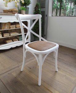 Sedie in legno di olmo bianche imbottite
