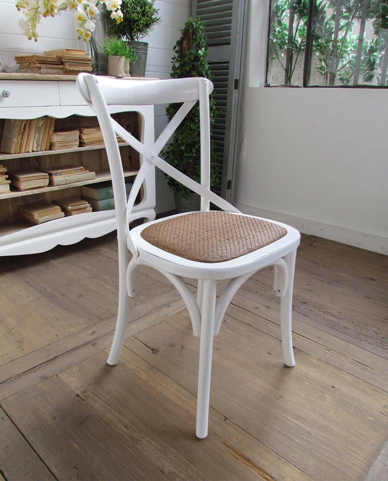 sedie imbottite shabby olmo naturale rattan