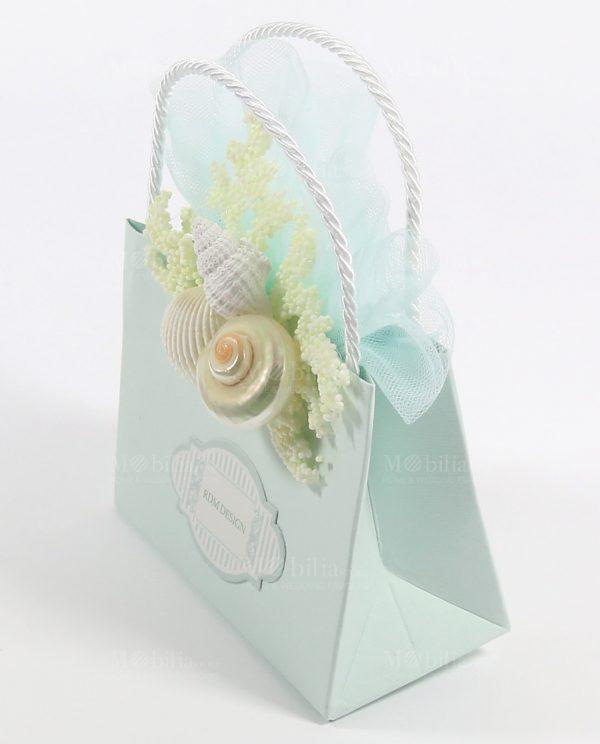 Borsette Portaconfetti Matrimonio Tiffany con Conchiglie Rdm