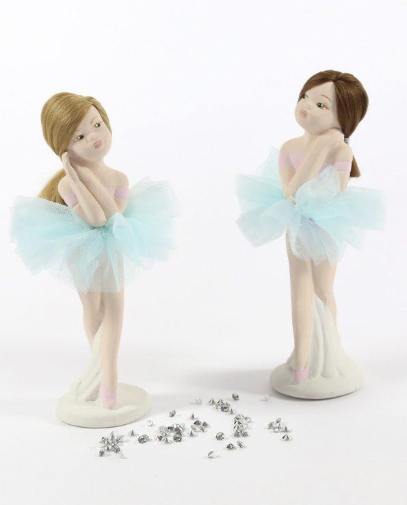 Bomboniere Ballerine Piccole Alzate con Tutù Tiffany Rdm Design-Ballerine Bomboniere Battesimo Bimba Alzate Piccole Tutù Tiffany