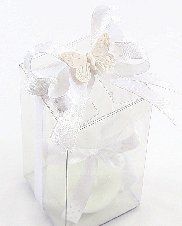 Bomboniere Originali Clessidra Piccola Sabbia Bianca con Farfalla