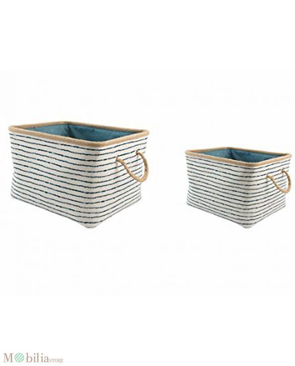 Ceste portaoggetti per arredare casa marine villa d'este set 2 pezzi