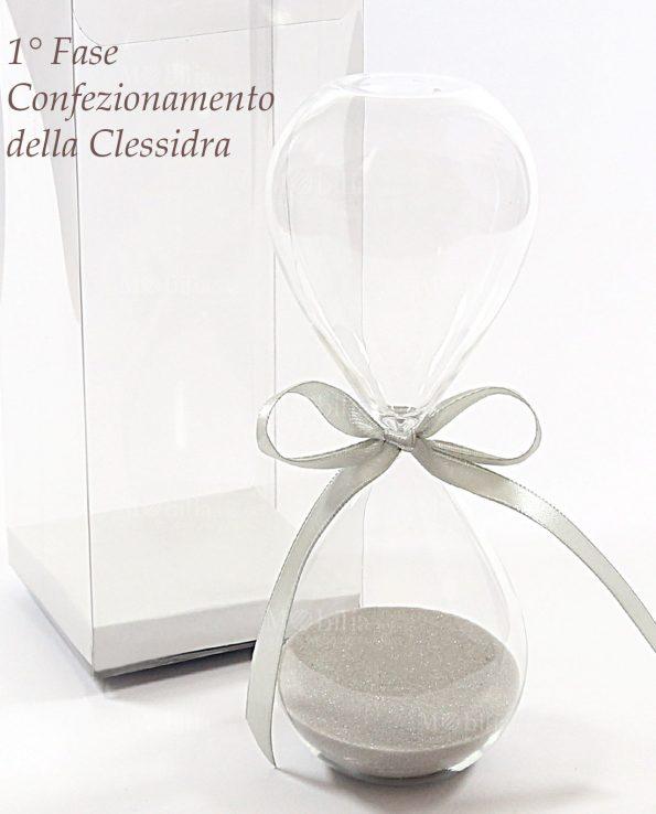 Bomboniere Originali Cresima Clessidra Vetro 10 o 60 Minuti
