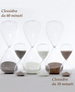 clessidra in vetro soffiato grande e media ad emozioni