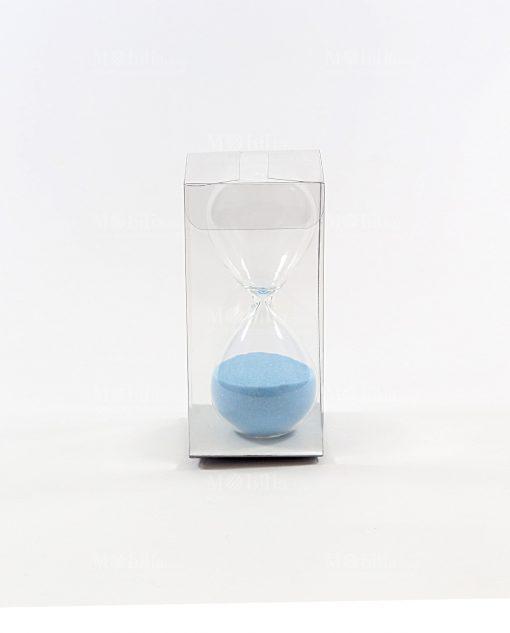 clessidra piccola azzurra con scatola