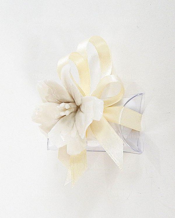 Bomboniere Magnolia Porcellana con Calamita Economiche