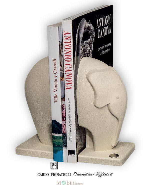 Fermalibri Design Elefante Beige Carlo Pignatelli