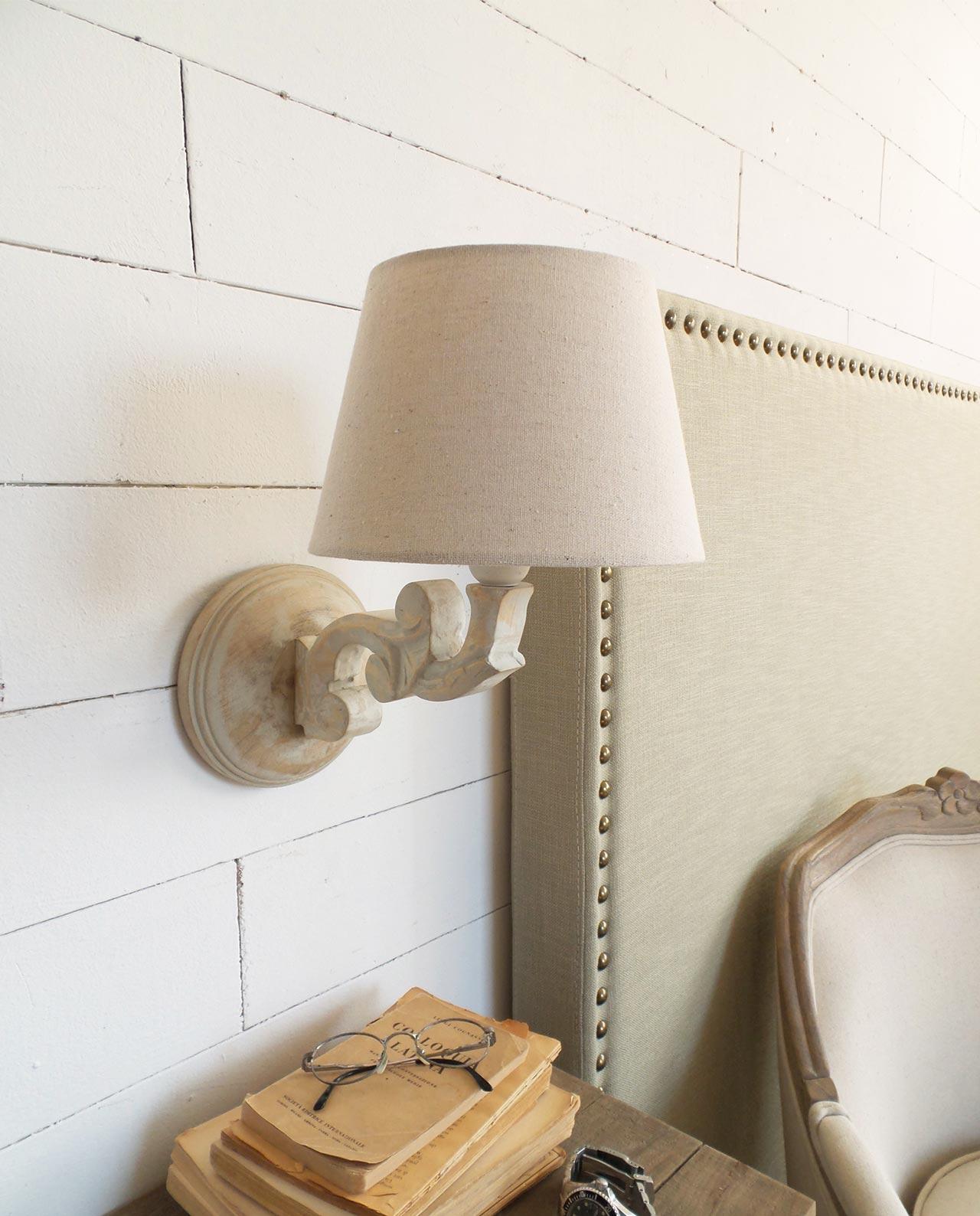 Lampade da parete applique legno set 2 pezzi mobilia for Applique da parete legno