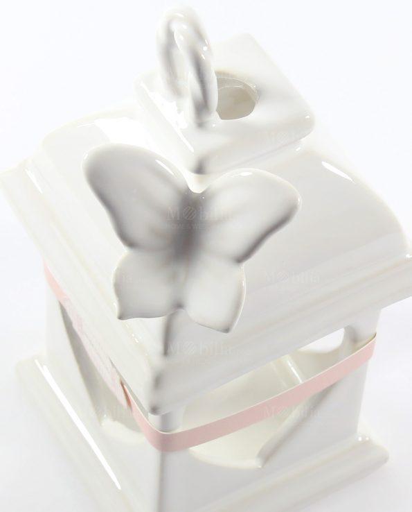 Lanterne Bomboniere Capodimonte con Farfalle Bianche Rdm Design