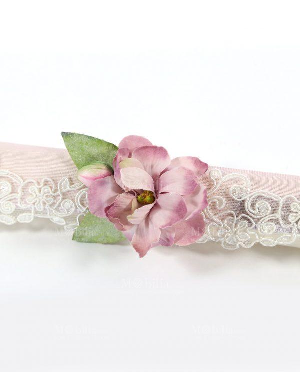 pergamena rosa con pizzo e magnolia rdm design