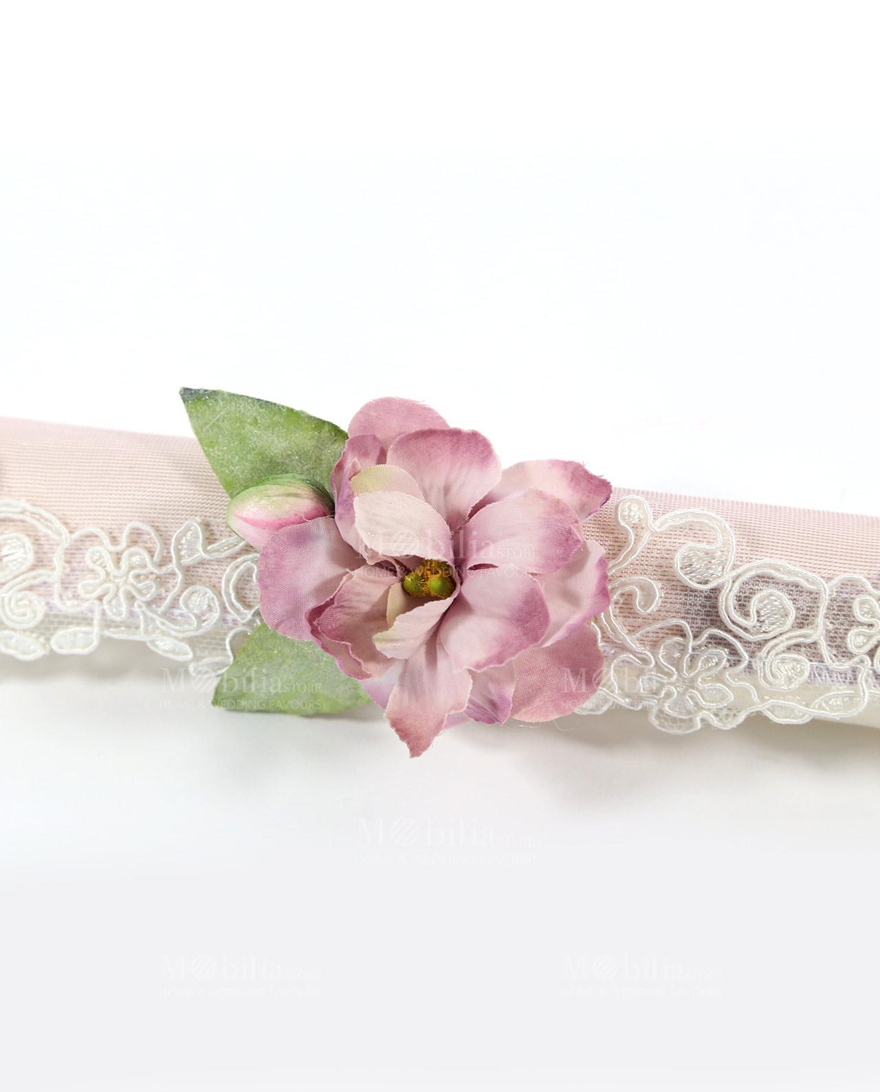 Pergamena Matrimonio Simbolico : Inviti matrimonio pergamena con magnolia e pizzo rebrodè rdm