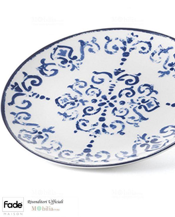 Piatti Frutta Porcellana Antico Blu Fade