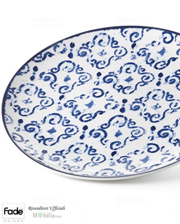Piatti Piani Porcellana Antico Blu Fade