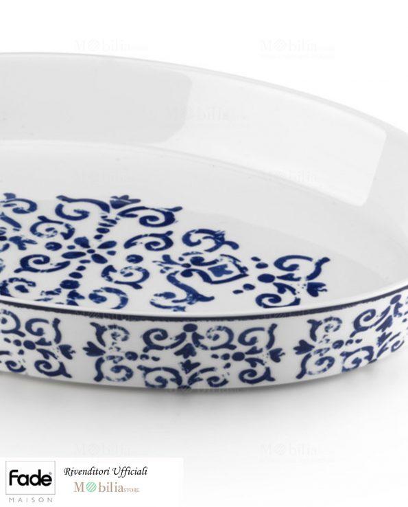 Pirofila Porcellana Antico Blu Fade