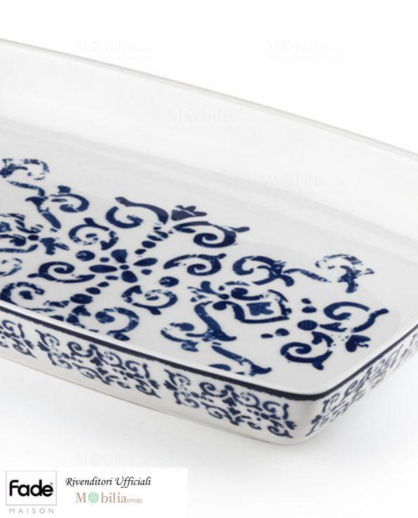 Pirofila Rettangolare Porcellana Antico Blu Fade