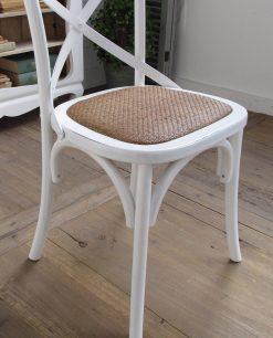 sedie imbottite in legno bianco stile provenzale