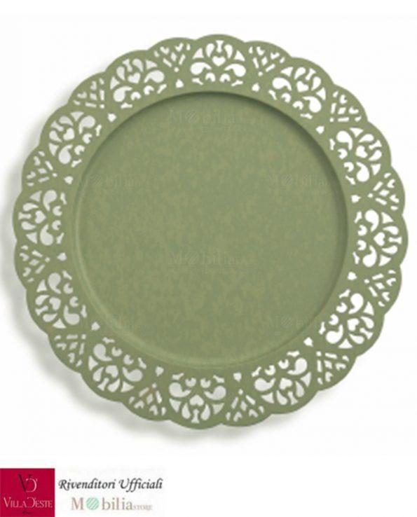 Sottopiatti Metallo Verdi Traforati Villa d'Este Set 6 Pezzi