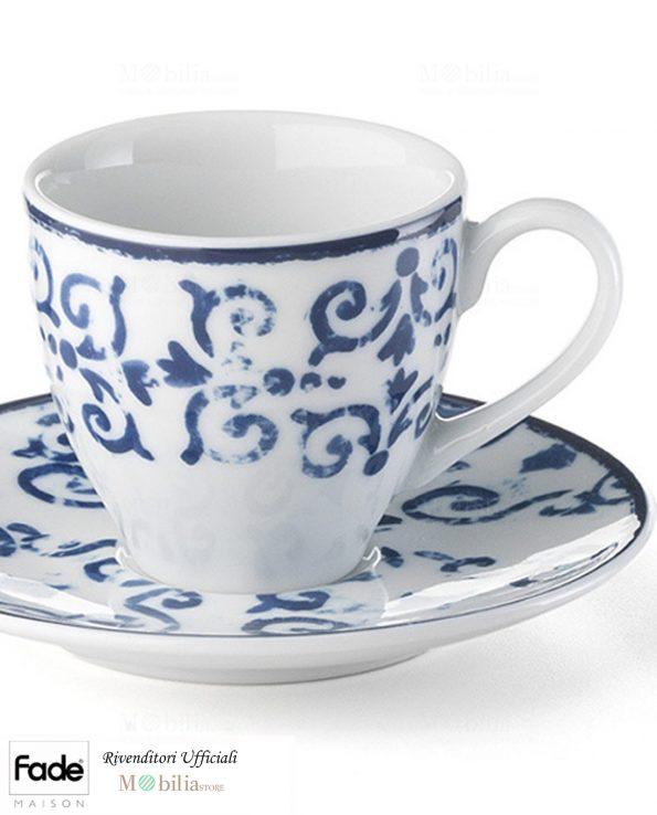 Tazzine Caffè Porcellana Antico Blu Fade