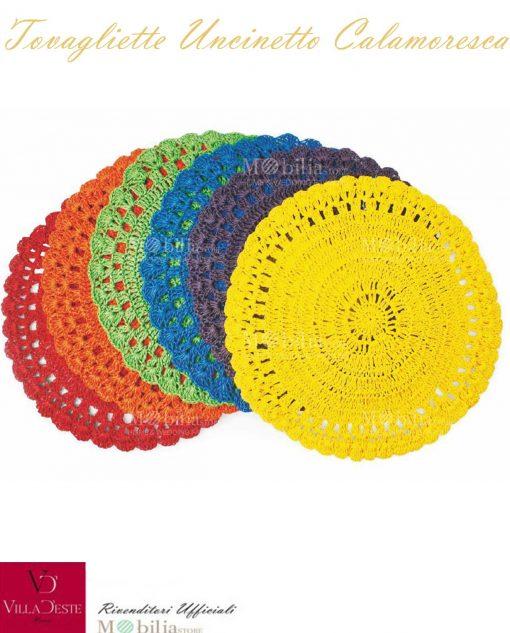 Tovagliette Uncinetto Multicolor Villa d'Este Set 6 pezzi