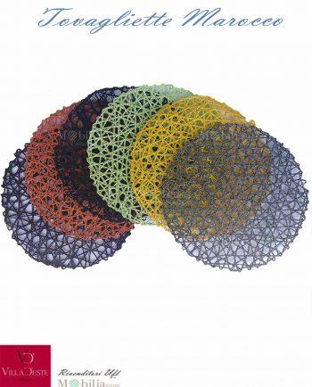 Tovagliette Rotonde Multicolor Marocco Villa d'Este Set 6 pezzi