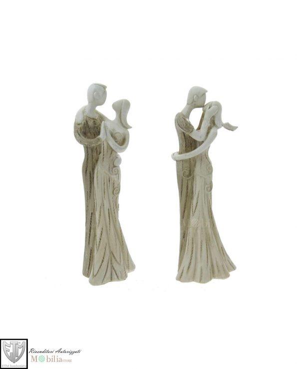 Statuine sposi bomboniere forma stilizzata set 2 pezzi assortiti