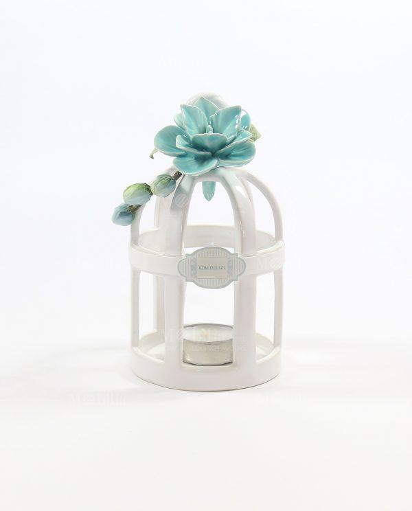 Bomboniere Originali Lanterna Gabbietta con Fiore Tiffany Rdm