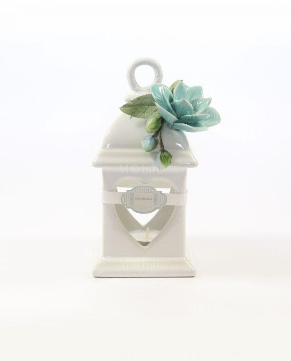 Bomboniere Capodimonte Lanterne con Fiore Tiffany Rdm