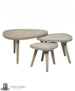 Set tre tavolini ibiza mauro ferretti