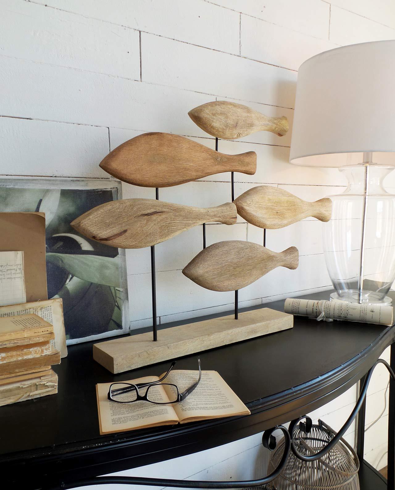 Soprammobili decorativi pesci legno tema mare - Soprammobili design ...