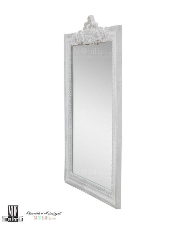 Specchio con Cornice e decori floreali