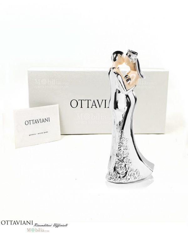 Bomboniera coppia di sposi in resina e argento Ottaviani