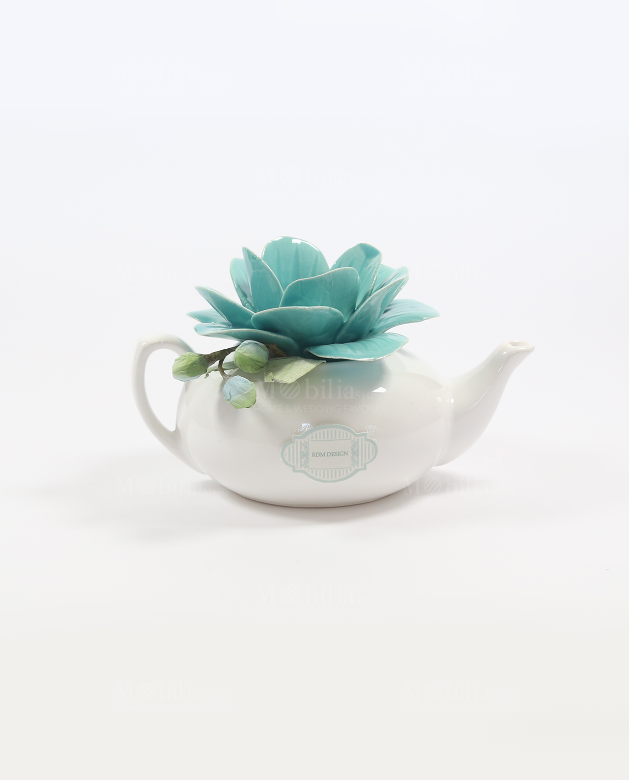 Bomboniera Matrimonio Azzurro : Bomboniera lanterna teiera linea lovely fiore tiffany rdm