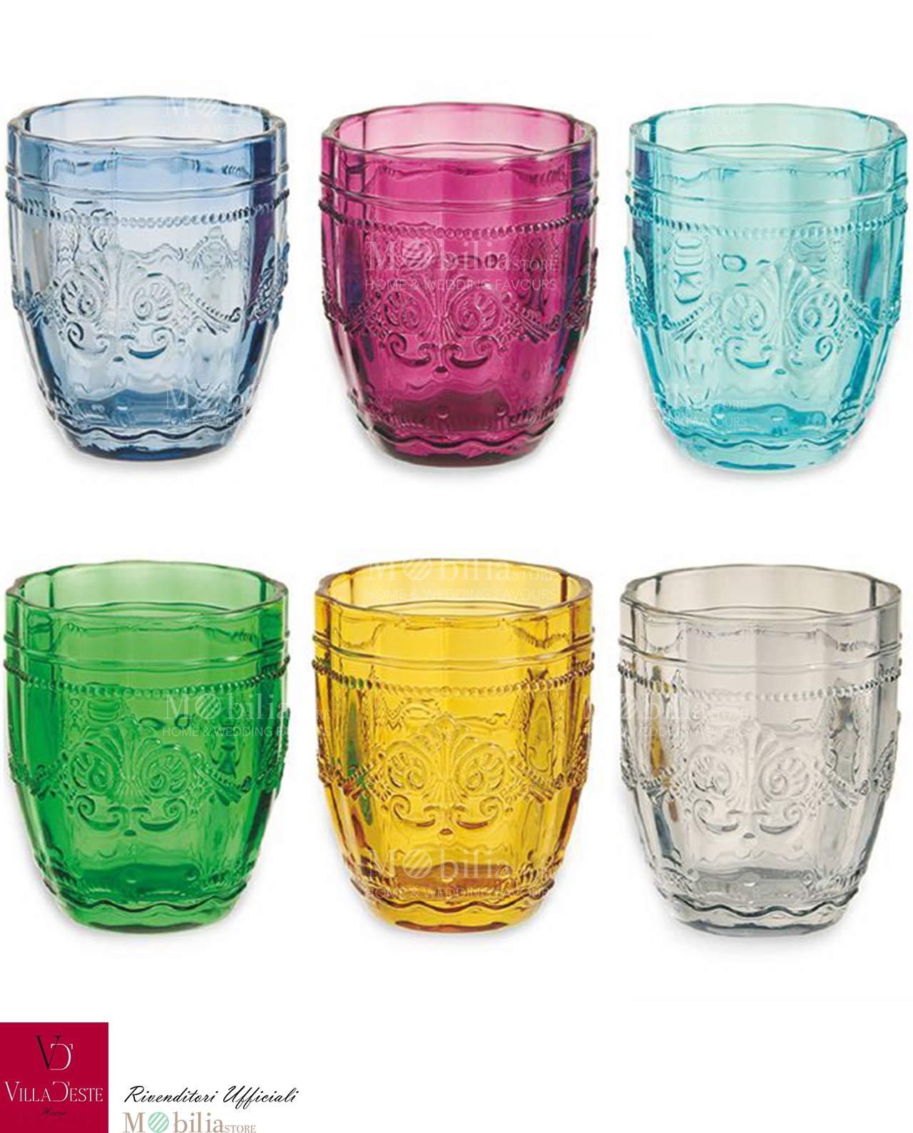 Bicchieri acqua colorati syrah villa d 39 este for Bicchieri colorati vetro