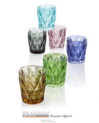 Bicchieri Acqua Colorati Diamante Brandani