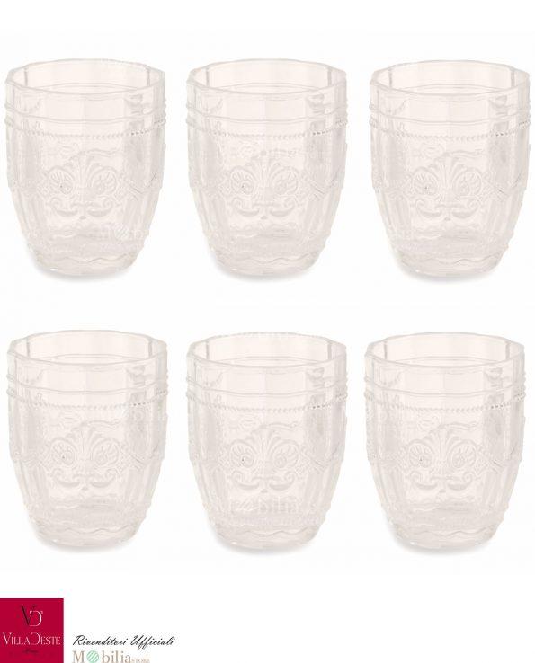Bicchieri da Acqua Trasparenti Syrah Villa d'Este