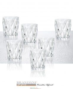 bicchieri acqua trasparenti diamante brandani